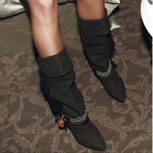 Brand new Isabel marant Dana fringe suede boots 39
